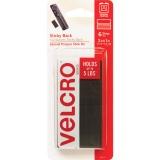 "Velcro 1"" x 2"" Hold Down strips, black, 6 sets"