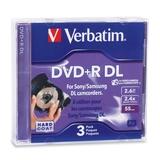 Verbatim 95313 DVD Recordable Media - DVD+R DL - 2.4x - 2.60 GB - 3 Pack Jewel Case