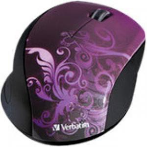 Verbatim Wireless Notebook Optical Mouse, Design Series - Purple