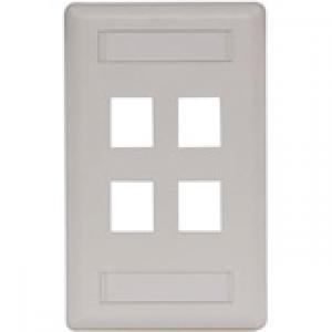 Hubbell 4-Socket IFP14OW Faceplate