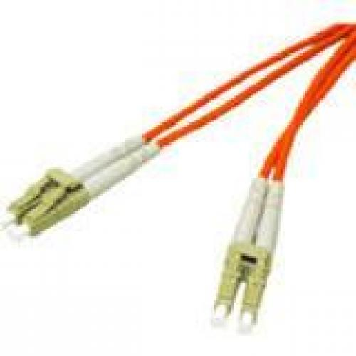 C2G-8m LC-LC 50/125 OM2 Duplex Multimode PVC Fiber Optic Cable - Orange