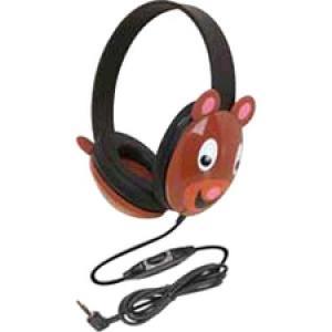 Califone Kids Stereo Pc Headp Over Head Bear Design Via Ergoguys