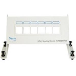 ICC Resi Mounting Panel, Blank, 6-Port