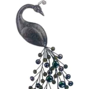 "Gardman Peacock Wall Art - 8.75"" L x 19"" W"