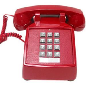 Cortelco 250047VBA20MD Standard Phone - Red