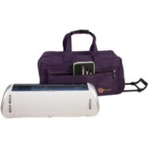 Creative Options Carrying Case (Rolling Tote) for Electronic Paper Cutter - Purple