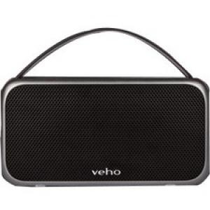 Veho 2.0 Speaker System - 20 W RMS - Portable - Battery Rechargeable - Wireless Speaker(s) - Gunmetal Gray