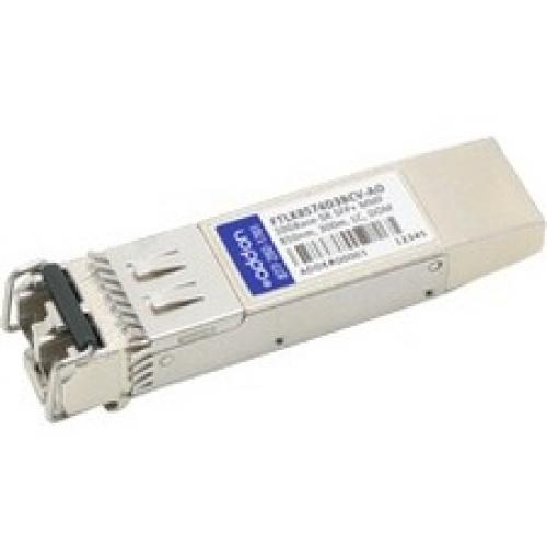 AddOn Finisar FTLX8574D3BCV Compatible TAA Compliant 10GBase-SR SFP+ Transceiver (MMF, 850nm, 300m, LC, DOM)