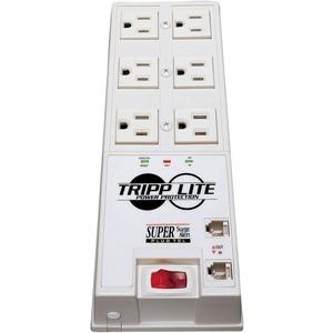 Tripp Lite Surge Protector Power Strip 6 Outlet 6' Cord 3040 Joules Tel/DSL Auto Shut Off