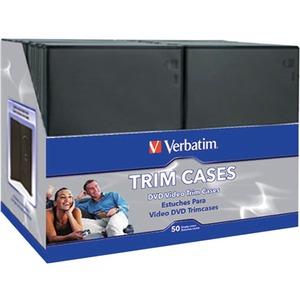 Verbatim CD/DVD Black Video Trimcases - 50pk