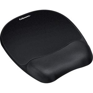Fellowes Memory Foam Mouse Pad/Wrist Rest- Black
