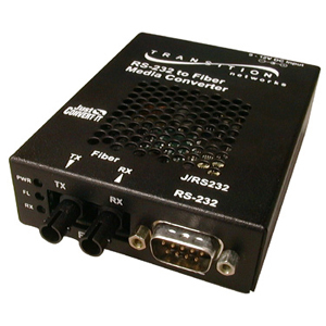 Transition Networks Just Convert-IT RS232 Copper to Fiber Stand-Alone Media Converter