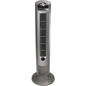 Lasko 2551 Wind Curve Platinum Tower Fan With Remote Control and Fresh Air Ionizer