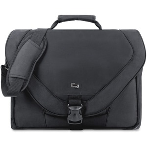 "Solo Classic Carrying Case (Messenger) for 17"" Notebook - Black"