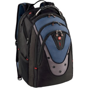 "Swissgear IBEX 17"" Backpack, Black & Blue"