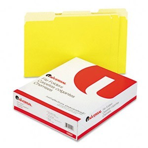 Universal Single Ply Colored Top Tab File Folder