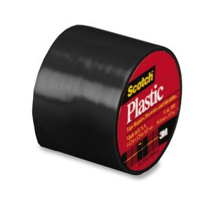 1-1/2X125IN BLK PLASTIC TAPE