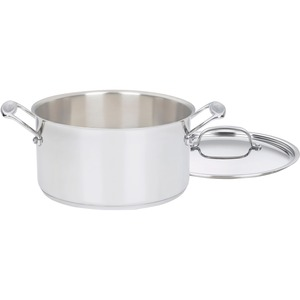 SAUCEPAN 6QT W/COVER STAINLESS