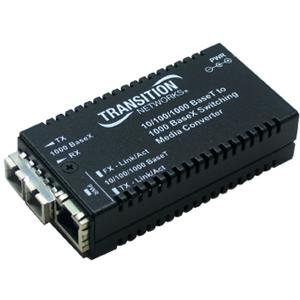 Transition Networks 10/100/1000Base-T to 1000Base-LX Media Converter