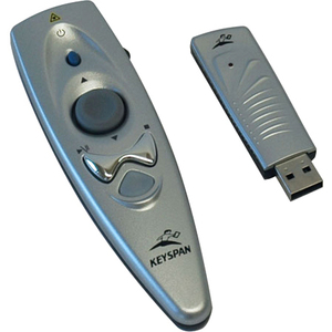 Tripp Lite Keyspan Presentation Wireless Remote Control w/ Laser / Mouse Silver 60ft