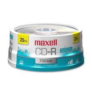 Maxell CDR 700MB 80MIN 48X-SPINDLE 25PK ( 648225 )