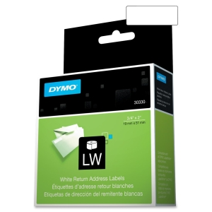 DYMO LW Return Address Labels for LabelWriter Label Printers, White, 3/4'' x 2'',?1 roll of 500