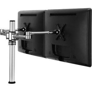 Visidec US Government Compliant dual display desk LCD/LED monitor articulated arm