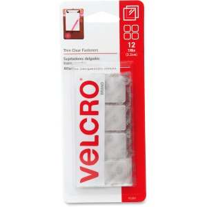 CLEAR 7/8 SQUARES VELCRO