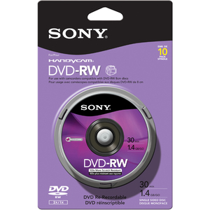 Disc DVD-RW 1.4GB 8CM 10/pk Spindle skin packSpindle skin pack