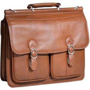 "McKleinUSA 15.4"" Leather Double Compartment Laptop Briefcase"