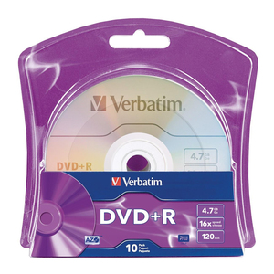 Disc, DVD+r, 4.7GB, 16X, 10/PK,BRANDED Surface, Blister