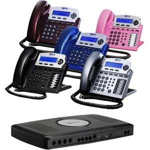 XBlue X16 IP Phone - Cable - Desktop - Titanium