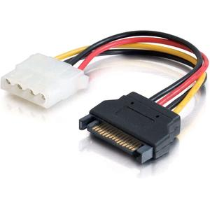 C2G 6in 15-pin Serial ATA Male to LP4 Female Power Cable