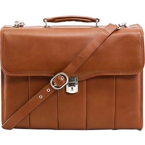 """McKleinUSA 15.4"""" Leather Executive Laptop Briefcase"""