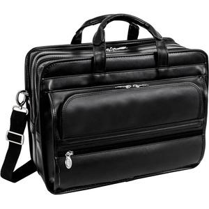 "McKleinUSA 15.6"" Leather Double Compartment Laptop Briefcase"