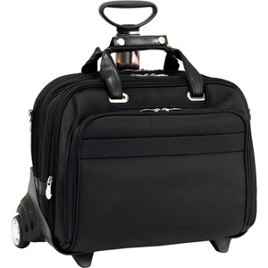 """McKleinUSA 15.6"""" Nylon Fly-Through™ Checkpoint-Friendly Patented Patented Detachable Wheeled Laptop Briefcase"""