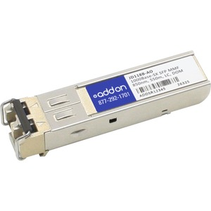 AddOn HP JD118B Compatible TAA Compliant 1000Base-SX SFP Transceiver (MMF, 850nm, 550m, LC, DOM)