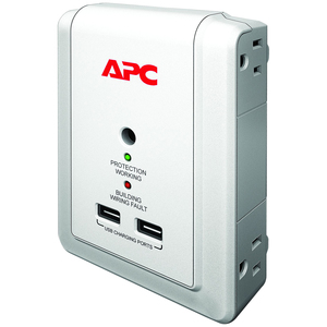 APC by Schneider Electric SurgeArrest Essential P4WUSB 4-Outlets Surge Suppressor