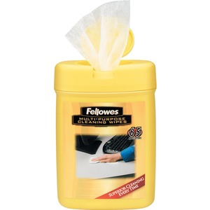 Fellowes Multipurpose Surface Cleaning Wipes - 65ct