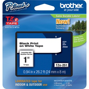"""Brother P-touch TZe 1"""" Laminated Tape Cartridge"""