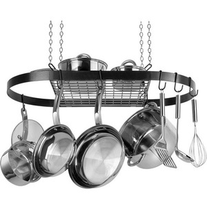 Range Kleen CW6000R Oval Hanging Pot Rack - Black