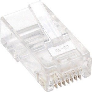 Intellinet Cat5e 3-prong Modular Plugs, Jar of 100