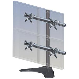 Ergotech Quad (2 Over 2) LCD Desk Stand