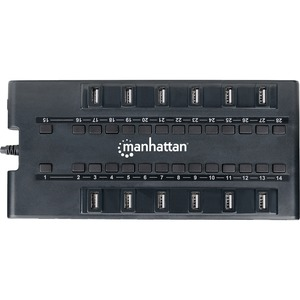 Manhattan 28-Port MondoHub, AC Power, 24 USB 2.0 Ports & 4 USB 3.0 Ports