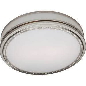 Hunter Fan Riazzi Bathroom Fan and Light with Brushed Nickel Finish (83001)