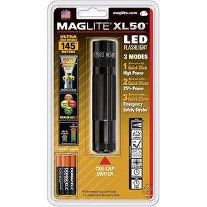 MAGLITE XL50 LED 3-Cell Black