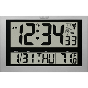 La Crosse Technology 513-1211 Atomic Digital Clock with Large 4 inch Time Display