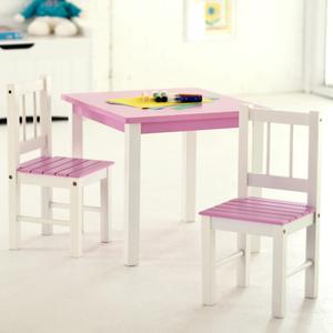 Lipper 513PK Pink/White Table & Chair