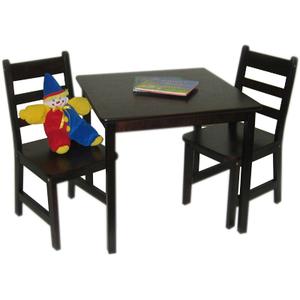 Lipper Square Table & 2 Chairs Set - Espresso Finish