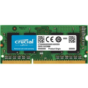 Crucial 8GB, 204-pin SODIMM, DDR3 PC3-12800 Memory Module